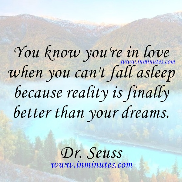 Dr Seuss Quotes About Friendship Interesting Quotes  You Know You're In Love When You Can't Fall Asleep