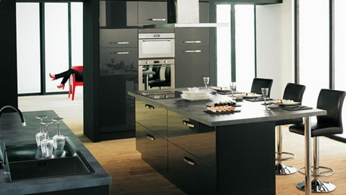 modern-black-kitchen-designs-ceramic-granite