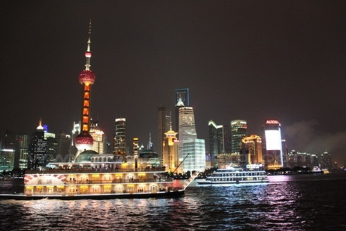 Cruising in Huangpu River  Top Places in Shanghai