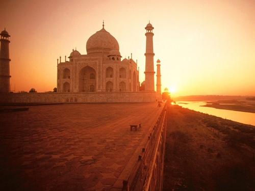 Taj Mahal  Well-known Monuments in India