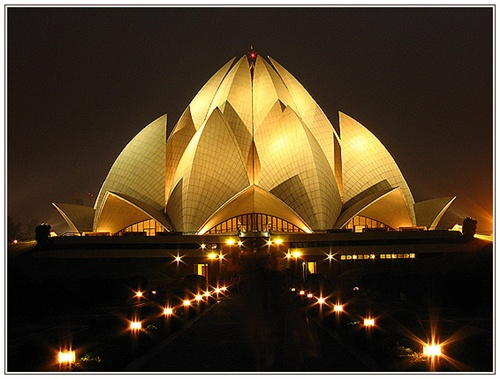 The Lotus Temple Characteristic Attractions in Delhi