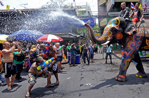 The National Water Festival in Bangkok