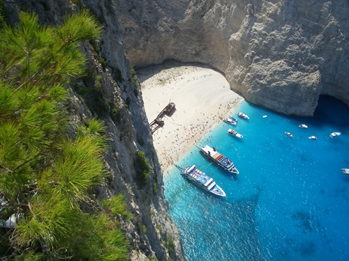 beaches in greece  Navagio, Zakynthos
