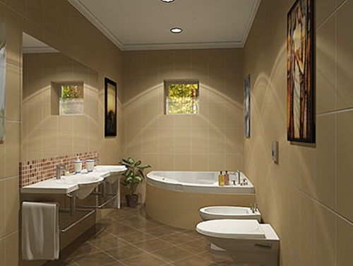 How to have a simple bathroom interior design for Toilet interior design