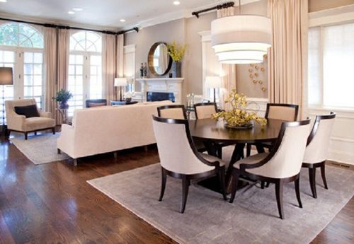 4 tricks to decorate your living room and dining room combo for Living dining room designs