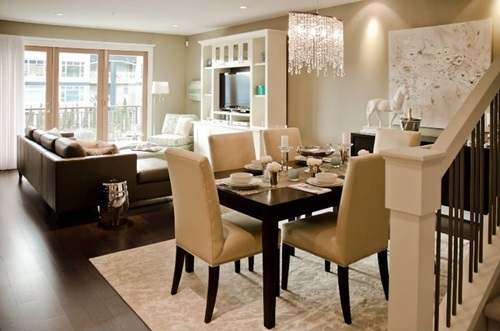 tricks to decorate your living room and dining room combo