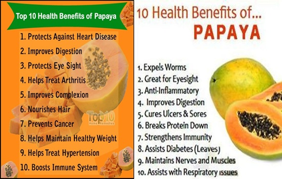 top 10 health benefits of papayas the fruit of the angels