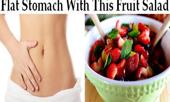 A Flat Stomach With This Fruit Salad ASAP