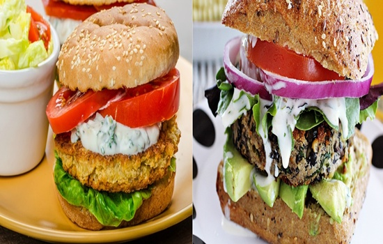 Black Beans Burger For Healthy Lunch