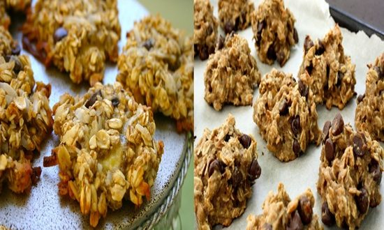 Healthy, Delirious Banana and Oats Cookies
