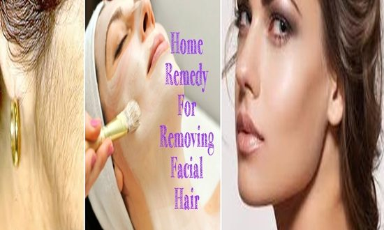 removing facial hair naturally