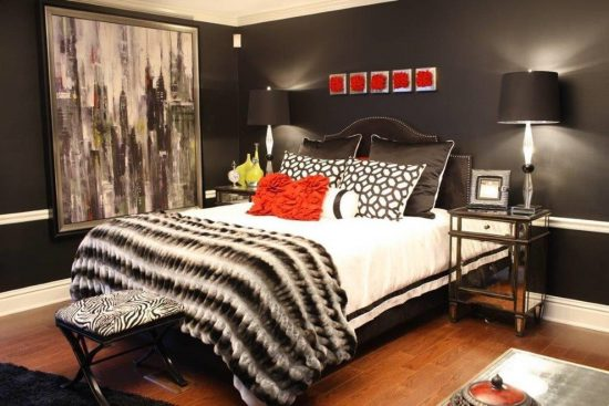 2016 Black and White Interior Bedroom Design Ideas for Getting an Elegant Look