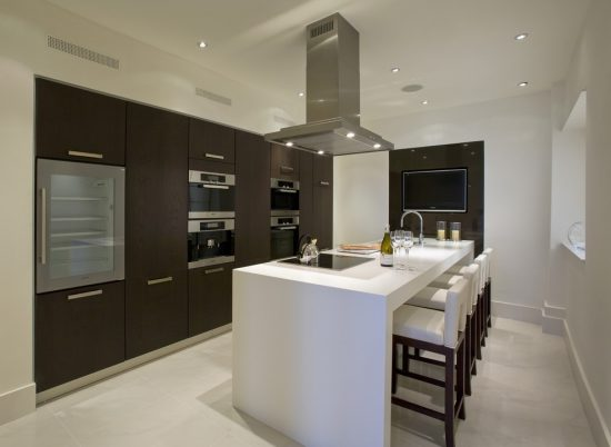 Add character and functionality to your modern kitchen by Innovative Sliding Cabinet Shelves