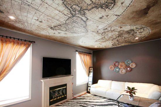 Unusual ceiling design