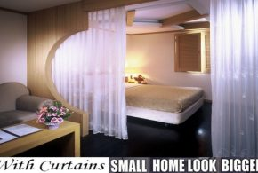Curtains Can Make Small Flats Look Larger And Adds More Function To It