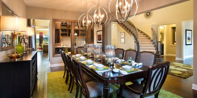 Enhance your home beauty with a glamorous dining room color décor of 2016