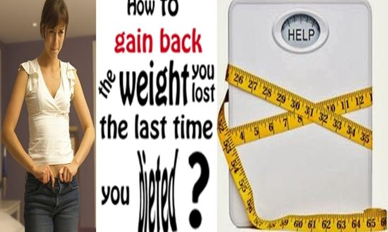 Gain Back the Weight You Lose After Weight Loss Diets