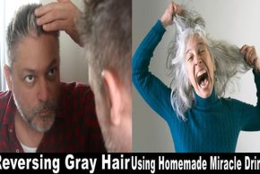 Get rid of gray hair with this amazing homemade drink!