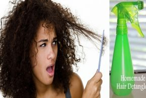 How To Make A Homemade Hair Detangling Spray For Curly Hair