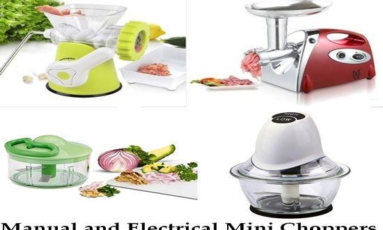 Manual and Electrical Mini Choppers, the Difference Between them and How to use and Clean them