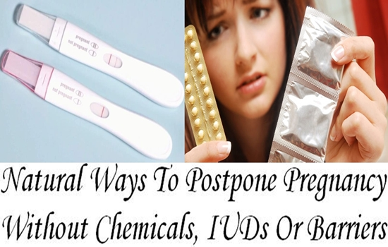 Natural Ways To Postpone Pregnancy Without Chemicals, IUDs Or Barriers