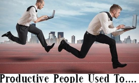 PRODUCTIVE PEOPLE USED TO DO BEFORE BED