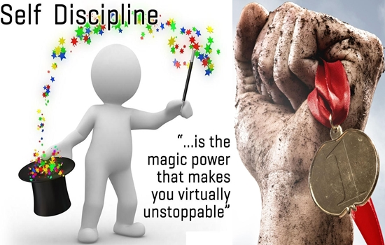 SELF- DISCIPLINE & WILLPOWER CAN MAKE A GREAT DIFFERENCE IN YOUR LIFE