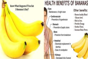 4 amazing benefits you will get by Eating 3 bananas a day!