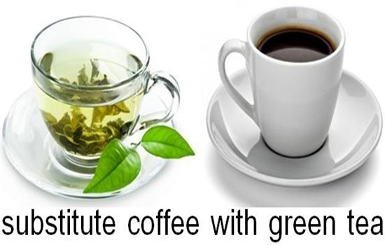 substitute coffee with green tea