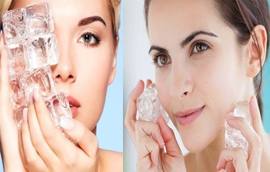 Ice Treatment For Beautiful Skin