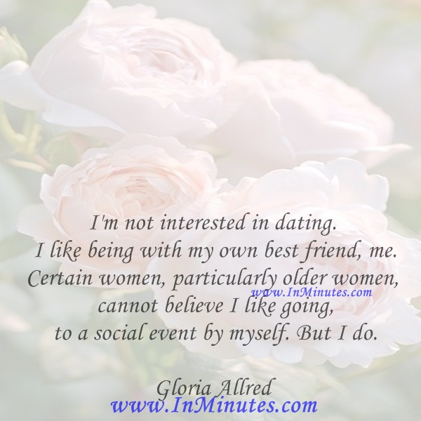 dating but not interested