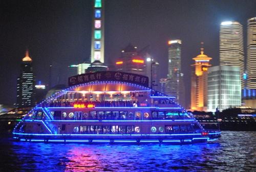 Cruising in Huangpu River  Top Places in Shanghai