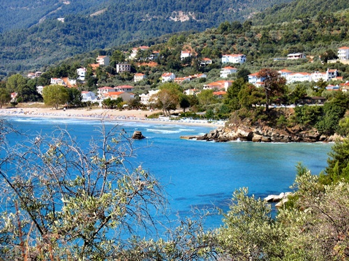 Golden beach on the Greek island of Thassos  10 most beautiful beaches in the world
