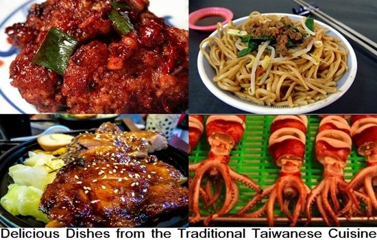 Delicious Dishes from the Traditional Taiwanese Cuisine - Rice, Chicken, Seafood, Soy, and Pork