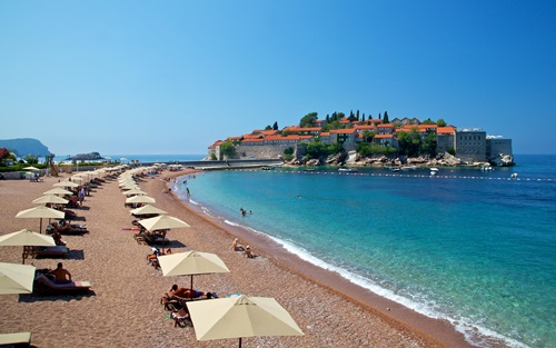 Most Amazing Beaches of the Mediterranean Sea  Sveti Stefan, Montenegro