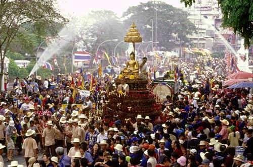 The National Water Festival in Bangkok