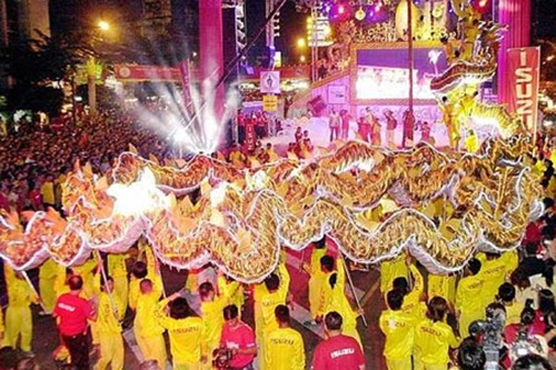 The New Year Celebration in Thailand