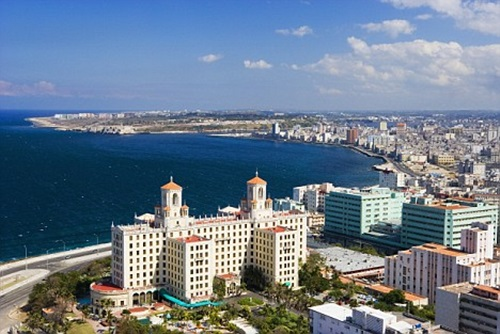 Havana Waterfront From Above