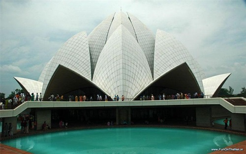 Photo of The Lotus Temple as a Modern Architectural Wonder