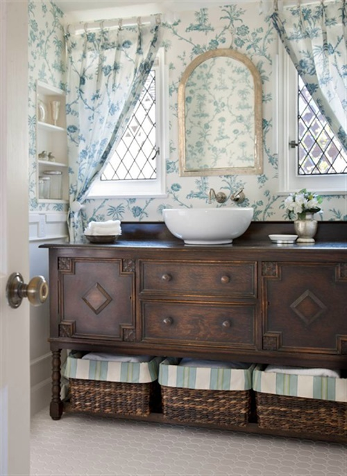 Photo of Wonderful Cottage Curtain Designs for Bathrooms