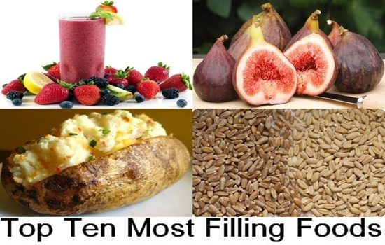 Top Ten Most Filling Foods