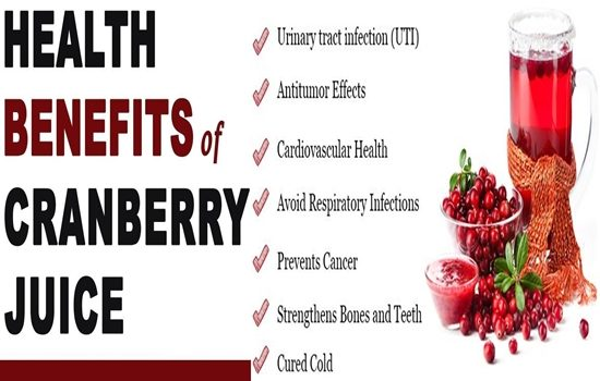 Health Benefits Of Cranberry Juice