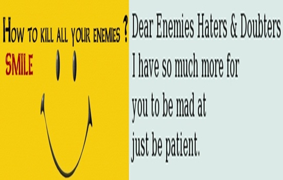 HOW TO DEAL WITH HATERS & ENEMIES