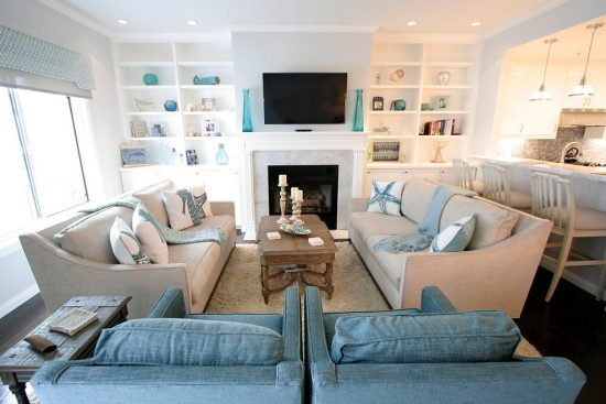 Breezy Beach Living Room Decorating Ideas for the New Year ...