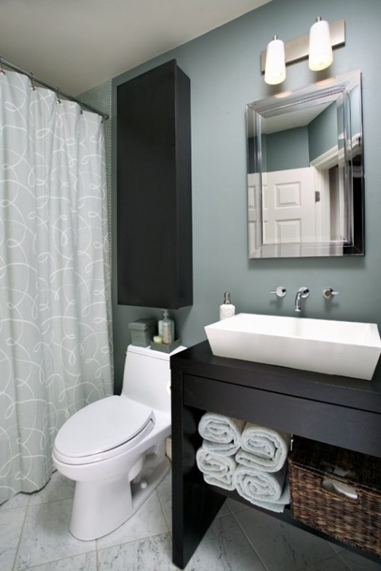 Brilliant ideas to decorate a beautiful small bathroom creatively and efficiently