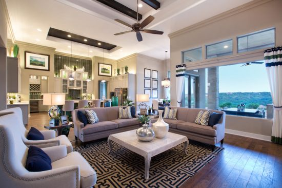 Contemporary living room with 2016 popular interior design ideas and colors
