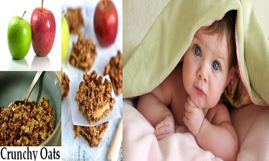 Crunchy Oats Coated Apples For Kids