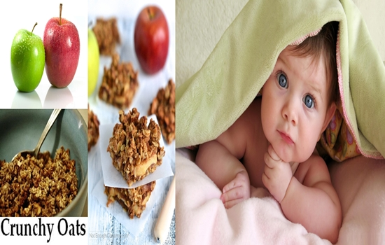 Photo of Crunchy Oats Coated Apples For Kids