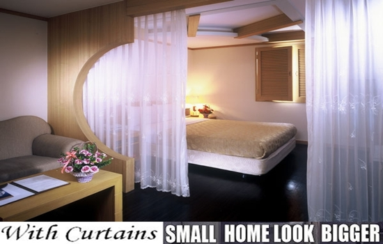 Photo of Curtains Can Make Small Flats Look Larger And Adds More Function To It