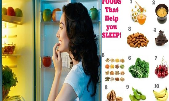 Eat any of these foods before sleeping